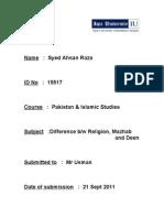 Syed Ahsan Raza(Isl)