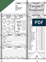 Game of Thrones - Sheet