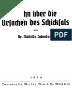 Ludendorff, Mathilde - Wahn über die Ursachen des Schicksals, Ludendorffs Verlag