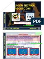 AGO2011 ReglasjuegoFUTSALA Modificaciones ENT