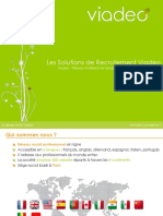 Viadeo - Présentation Solutions Recrutement