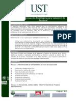DIPLOMADO TECNICAS DE EVALUACIÓN PSICOLÓGICA PARA SELECCIÓN DE PERSONAL