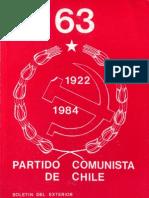 Boletín del Exterior Partido Comunista de Chile Nº63