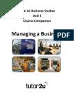 AQA as Business Unit 2 Course Companion