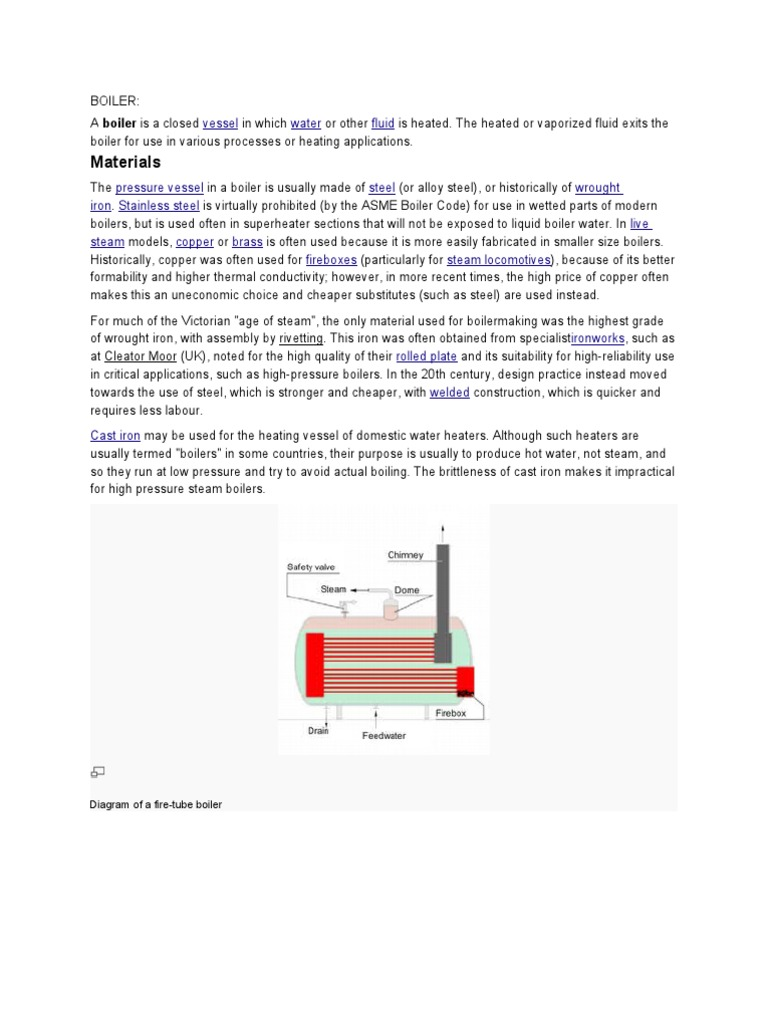 Boiler   Boiler   Steam