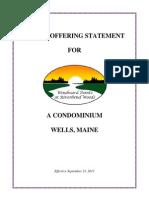 Windward Pointe - Public Offering Statement