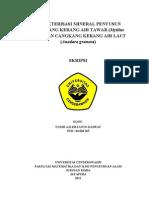 Skripsi Karakterisasi Mineral Penyusun Cangkang Kerang Air Laut Dan Air Tawar