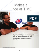 Tellabs Insight Magazine - DWDM Makes a Difference at TIME