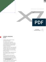 Francis X7 Manual