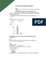 Rumus Matematika Program Linear