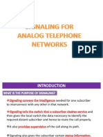 8.1 Signaling for Analog Telephone Networks