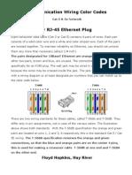 Cat5 Wiring Color Codes v1