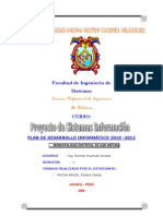 Plan Desarrollo Informatico