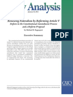 Renewing Federalism by Reforming Article V