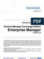 Admin Manua for Archive Manager Exchange Edition Enterprise Manager (v5.0)