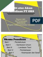 Audit Atas Akun Persediaan PT ORS