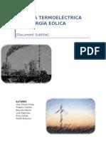 Termoeléctricas vs. Energías Renovables