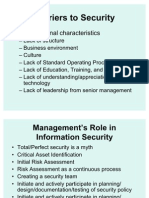 Information Security Management Role of Management