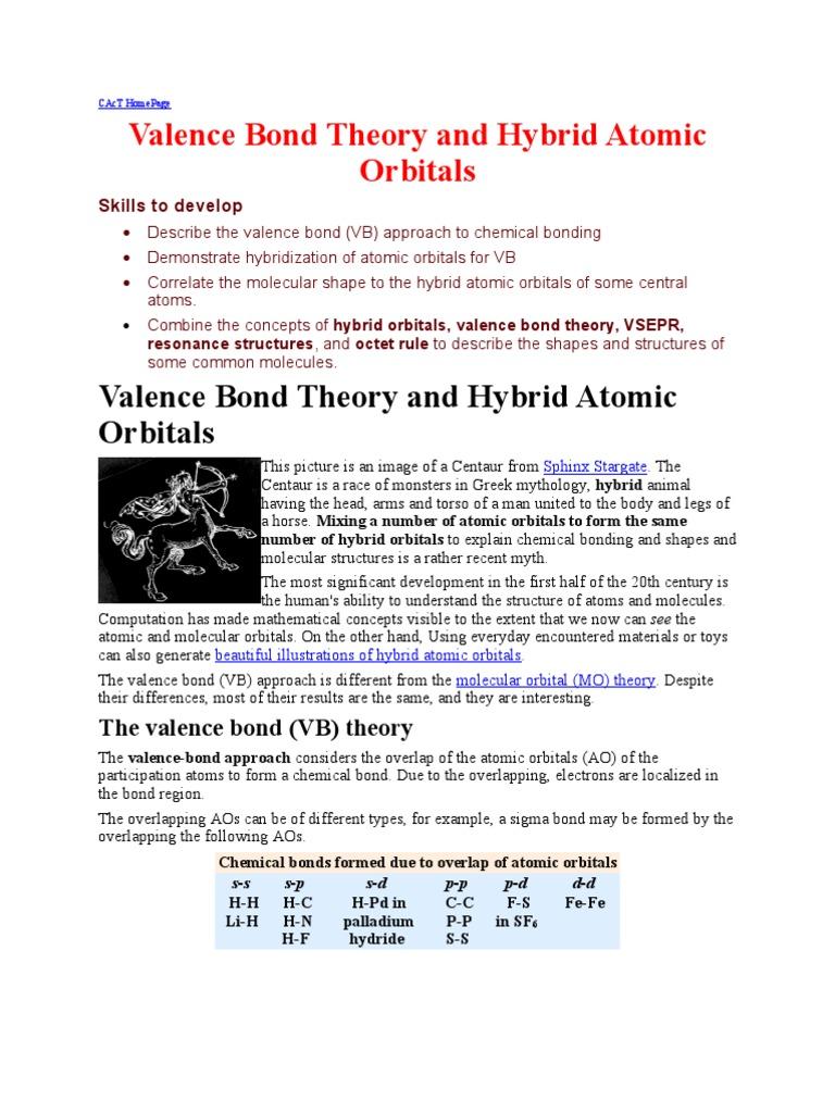 Best C B Chemical Bond Atomic Orbital