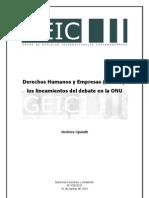 GEIC Derechos Humanos y Empresas Parte i Los Lineamientos El Debate en La Onu1