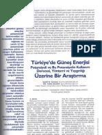 Türkiye'de Güneş Enerjisi Potansiyeli ve Bu Potansiyelin Kullanım Derecesi, Yöntemi ve Yaygınlığı Üzerine Bir Araştırma