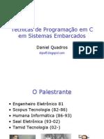 DQ-Tecnicas de Programação em C para Sistemas Embarcados- IsemCC++pSE