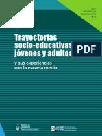 Trayectorias socio-educativas de jóvenes y adultos Ministerio