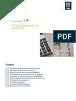 Unidad 7 Procedimientos de auditoría