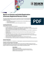 Return to Practice Info Flyer 2011
