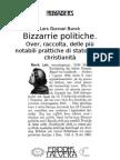 Lars Gunnari BANCK. Bizzarrie politiche. Over, raccolta, delle più notabili prattiche di stato, nella christianità