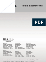 Belkin Router  F5D8231-4 Manual Español