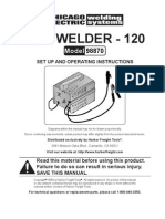 120 Amp Arc Welder Manual 98870