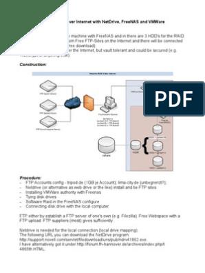virtual Raid5 over Internet with NetDrive, FreeNAS and