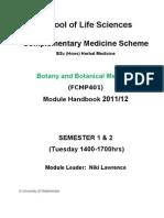 Botany & Botanical Medicine Handbook 23 Sept 2011v2 (1)