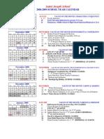 School Calendar 2008-2009