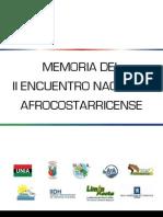 Memoria Del II Encuentro Nacional Afrocostarricense-web