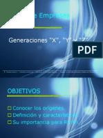 Generación X,Y y Z