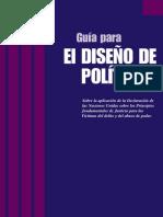 GUIA DECLARACIÓN SOBRE LOS PRINCIPIOS FUNDMENTALES DE JUSTICIA PARA LAS VICTIMAS DE DELITO Y ABUSO DE PODER