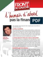 L'humain d'abord, pas la finance