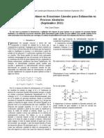 Cómputo de Pesos Óptimos en Ecuaciones Lineales para Estimación en Procesos Aleatorios