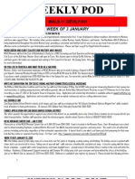 FRO WEEKLY PLAN OF THE DAY, THE WEEK OF 3 JANUARY 2012