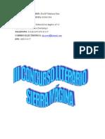 III CONCURSO LITERARIO SIERRA MÁGINA
