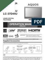 Manual Sharp Lc-37d44u