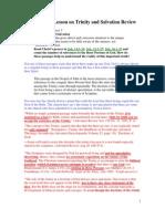 SDA Sabbath School Lesson Review, Thursday January 5, 2012