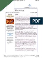 Monthly Motivator--November 2008