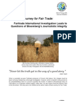 Fairtrade International Investigation Leads to Questions of Bloomberg's Journalistic Integrity