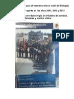 UNIVERSIDAD DEL EJERCITO Y FUERZA AERIA TEMARIO BIOLOGIA CONTESTADO
