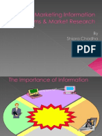 Marketing Information Systems & Market Research