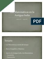 Las Matemáticas en la Antigua India