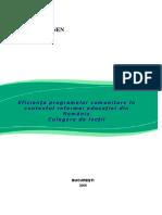 NEN Madlena Eficienta Programelor Com Unit Are in Contextul Reformei Educatiei Din Romania